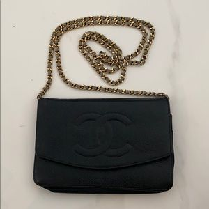 CHANEL Timeless WOC Wallet on Chain Caviar Leather